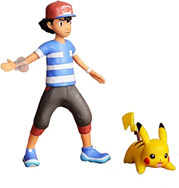 Bandai Pokémon Figurine à Fonction 12 Cm Sacha Son Pikachu 81213
