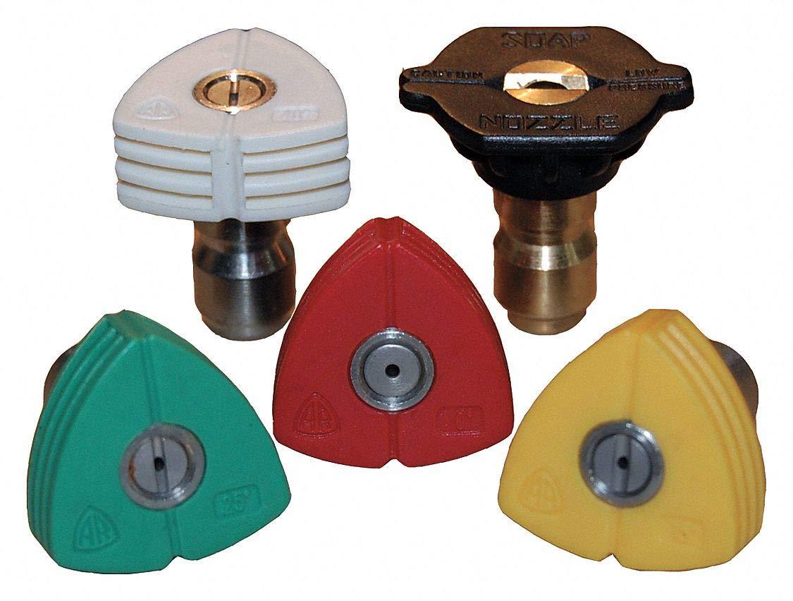 Quick Connect Spray Nozzle, Nozzle Size: 15, Max Pressure: 5000 psi, 5 PK