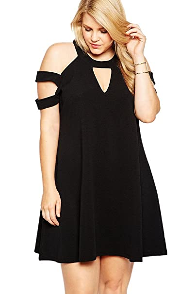 Plus Size Black Swing Dress