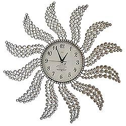 Meida Beautiful Large Wall Clocks Handmade Stylish Wall Clock With Crystals Decorative Windmill 2959