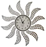 Cheap Meida Beautiful Large Wall Clocks Handmade Stylish Wall Clock With Crystals Decorative Windmill 2959