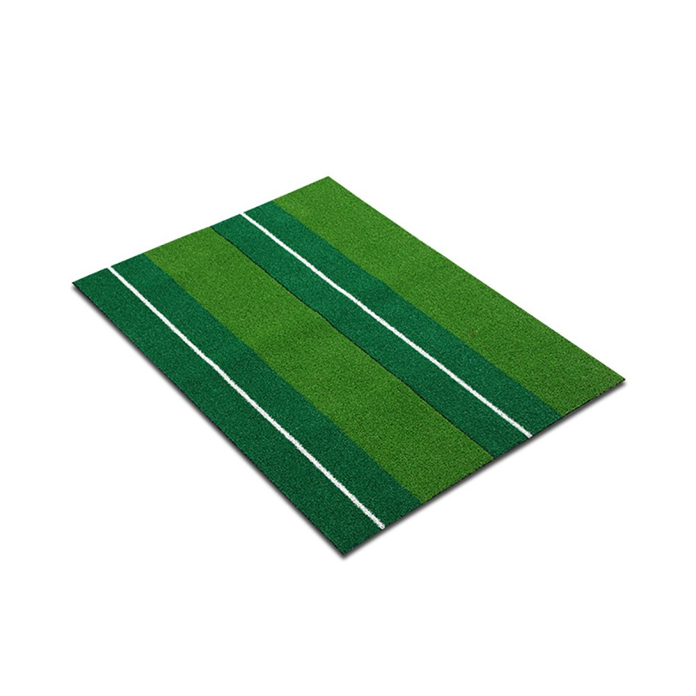 Golf Hitting Mat Golf Simulation Grass Carpets Swing Practice Mat Non-slip Rubber Bottom ( Size : 90cm )