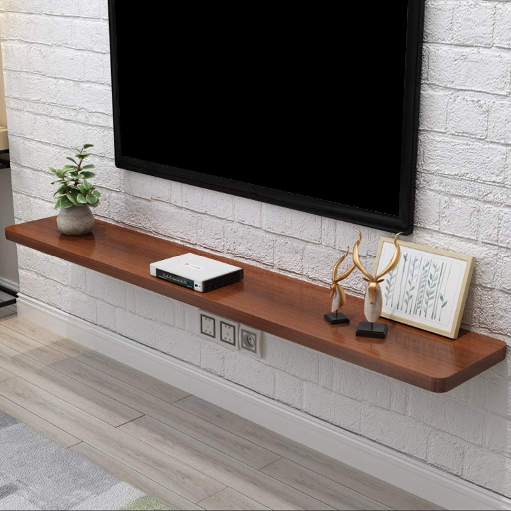 Floating Shelf Wall Mounted TV Shelves Modern TV Stand Minimalist TV Cabinet 60-140cm Wall Decoration TV Console Shelves for Living Room & Bedroom (Color : C, Size : 120cm) by GDF-FLOATING SHELVES
