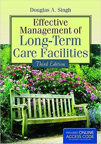 Effective Management Of Long-Term Care Facilities Douglas A. Singh