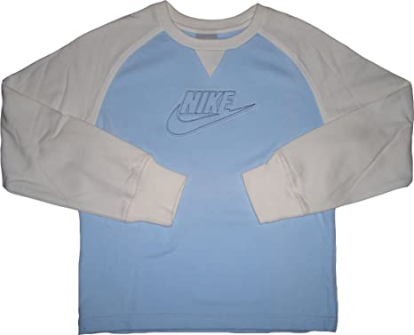 Nike Sudadera Claro Color De Algodón Forro Azul 80 Polar Blanco rvqw1rFO