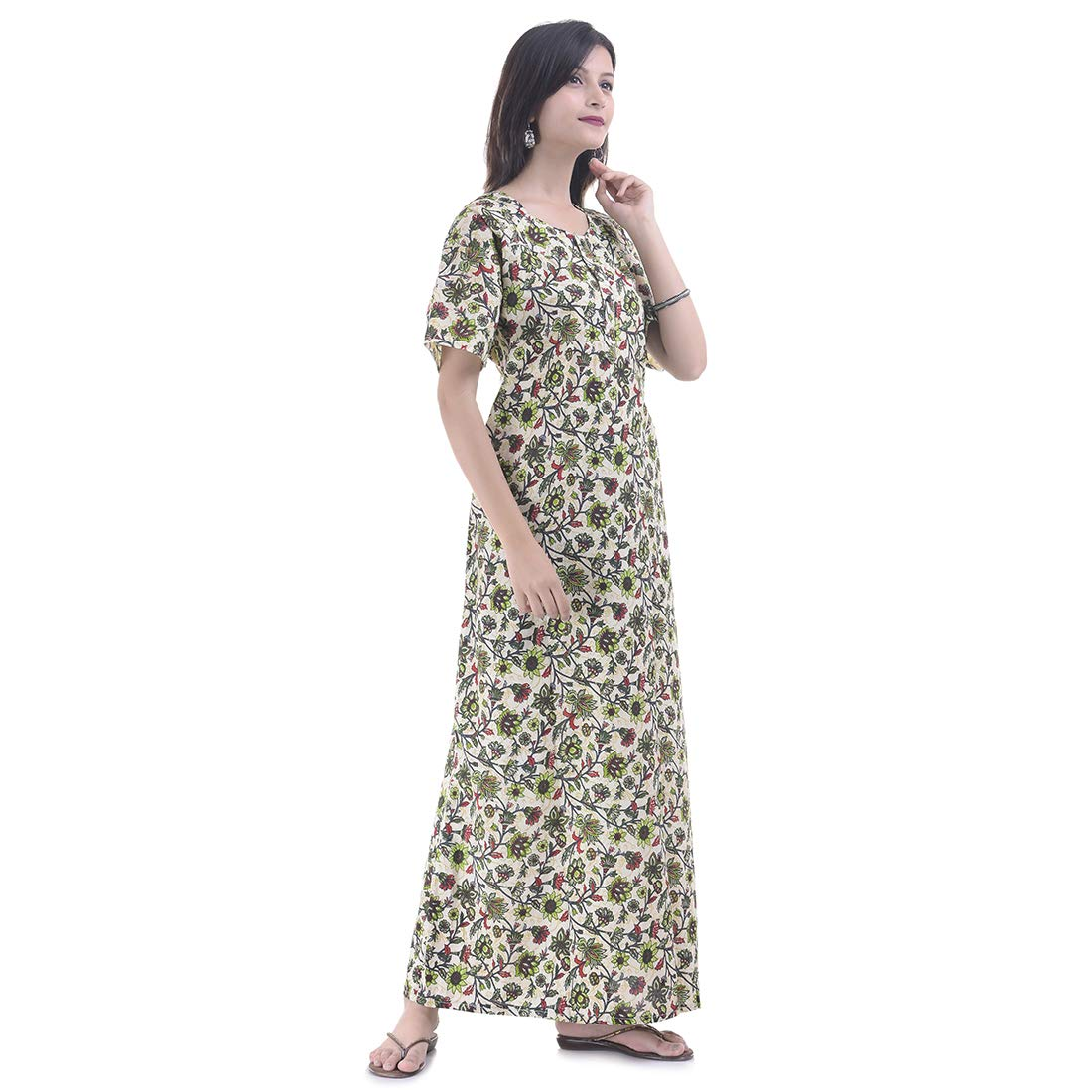 5c386557f4 Women cotton night wear gown sexy nighties nighty sleepwear indian dress  long skirt maxi bath robe