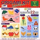 Origami Loisirs - Loisirs Créatifs - Origami Kit Selection 1 (Facile) - Notice Illustrée + 81 Feuilles de Papier Origami - 15cm x 15cm