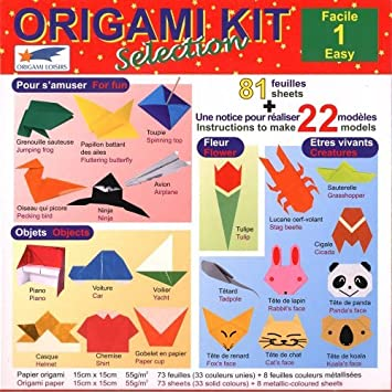Origami Paper - Origami Kit Selection 1 (Easy) - Illustrated ...