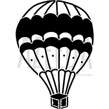 Azeeda Groß A2 Heißluftballon Wandschablone Vorlage