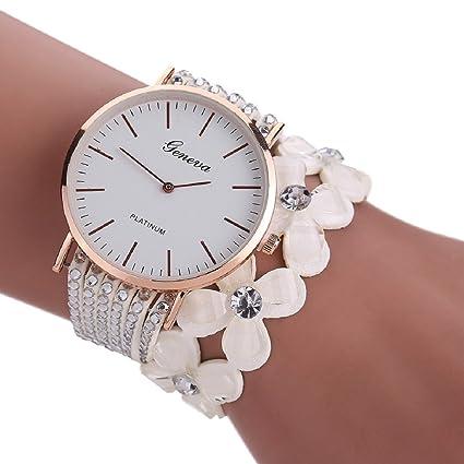 0a359e842 Amazon.com  Ikevan Newest Fashion Leisure Womens Quartz Bracelet Watch  Crystal Diamond Wrist Watch Jewelry Gift for Women Girls (White)  Musical  Instruments