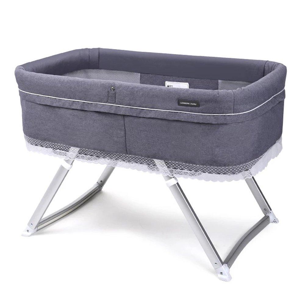 ベビーベッド、多機能折り畳み式揺りかご新生児0-2歳シェーカー94 * 56 * 29センチメートル (色 : B)  B B07GB6B5CK