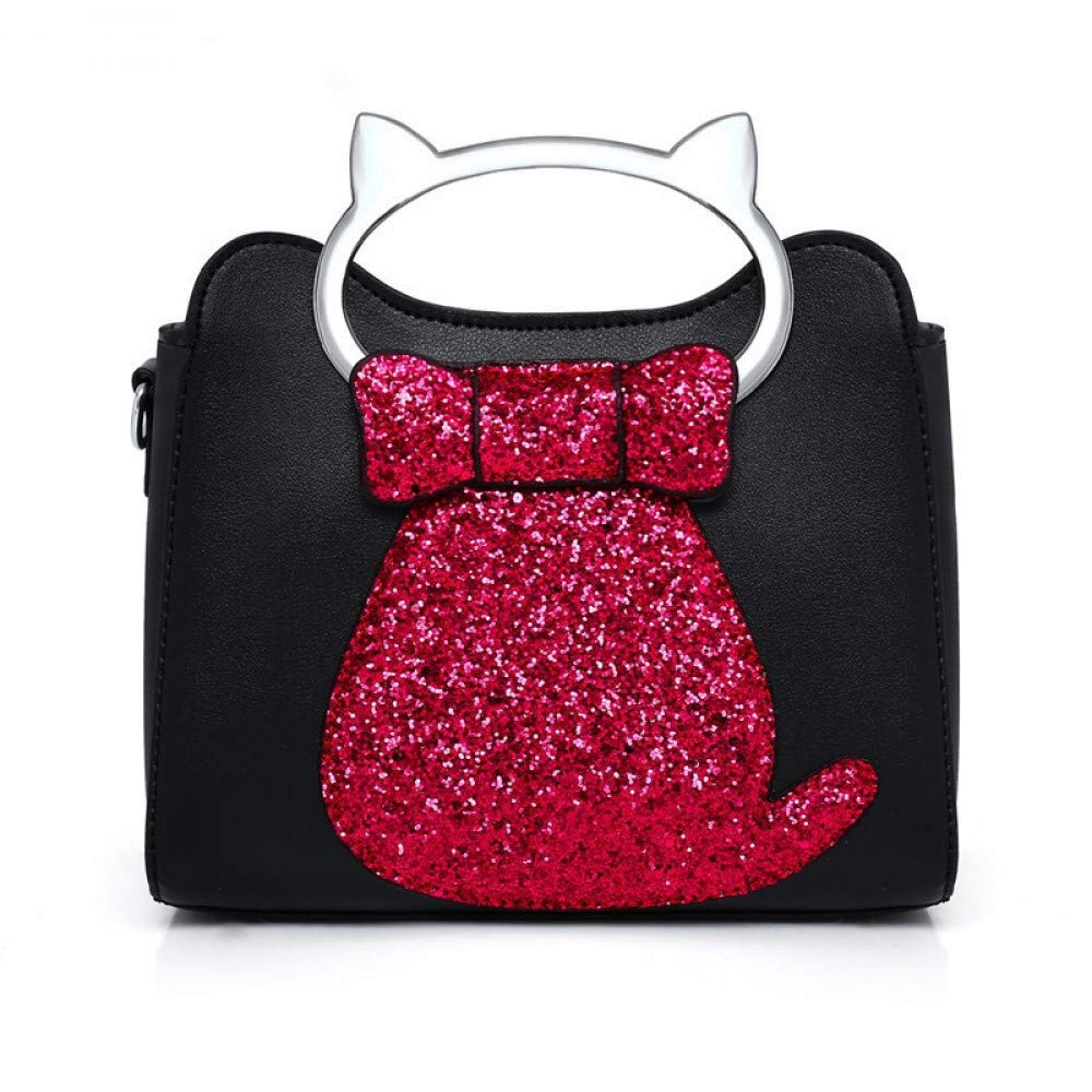 9ca53c7a6895 Amazon.com  GMYANDJB Cute Cat Shaped Totes Sequins Handbags Women Shoulder  Bags Bow Glitter Purses Crossbody Bag for Girls Leather  Sports   Outdoors