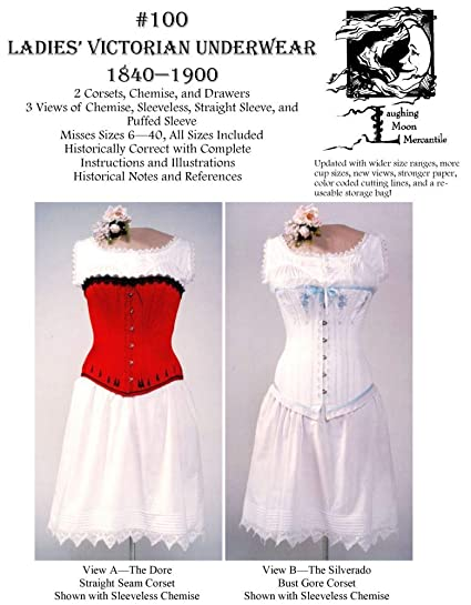 Victorian Corsets, Chemise and Drawers Pattern (Sewing Pattern)
