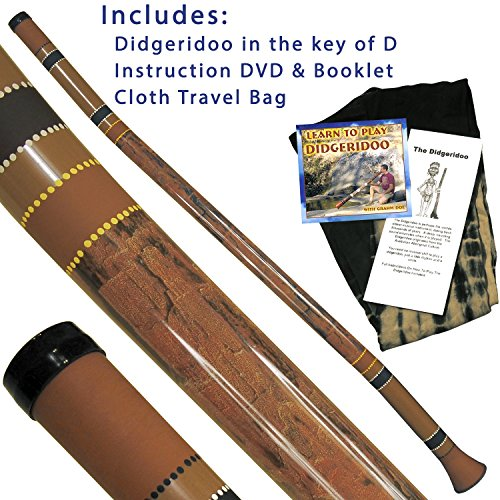 **To hear this didgeridoo search in YouTube: Ultimate Didgeridoo from The Didgeridoo Store**  This package contains everything you need to get started playing! Perfect for a beginner or intermediate player. Designed with thicker walls to produce a cr...