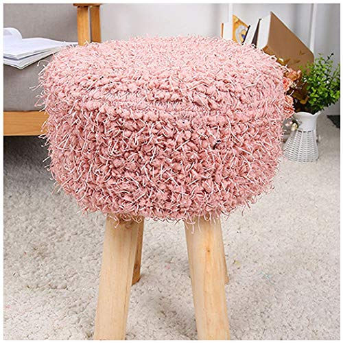 (YONGYONG-hammock Four-Foot Stool Hair Change Shoe Stool Low Stool Home Round Stool Plush Stool Simple Solid Wood 303045CM (Color : 2, Size : 303045CM))