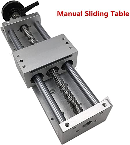 300mm Manual Linear Stage Sliding Table Ballscrew 1605 Linear Guides Cross Slide Table SFU1605 Travel Length L100 200 300 400 500 600mm 300mm