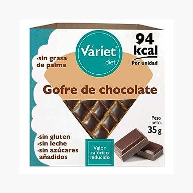 Gofre de chocolate light Váriet. Sin gluten, sin leche, sin ...