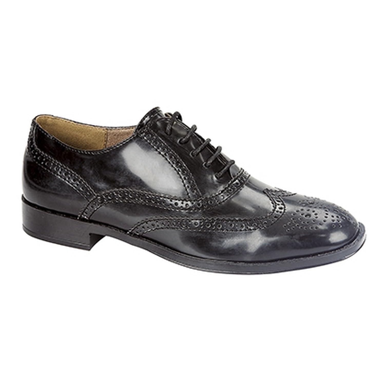 8342166cc92da Boulevard Womens Ladies Brogue Lace Shoes (7 UK) (Black)  Amazon.co.uk   Shoes   Bags