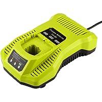 Energup Ersatz Ladegerät für Ryobi ONE+ 12V~18V Akku Ryobi ONE+ P104 P105 P102 P103 P107 P108 (Kompatibel mit 260051002 P117 P118 P113 BCL1418)