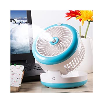 Captivating Huluwa Personal Fan Cooling Misting Fan, Portable USB Rechargeable Fan,  Power Bank, Table