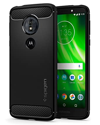 Spigen Rugged Armor Designed for Moto G6 Play Case (2018) - Black