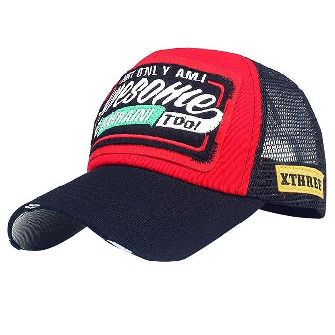 YiYLunneo Gorras Beisbol, Gorra para Hombre Mujer Talla única Casquillo Bordado de Verano Sombreros de Malla para Casuales Sombreros Hip Hop Gorras de ...
