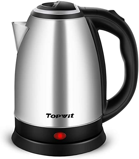 Amazon Com Topwit Electric Kettle Hot Water Kettle Upgraded 2 Liter Stainless Steel Coffee Kettle Tea Pot Water Warmer Cordless With Fast Boil Auto Shut Off Boil Dry Protection Kitchen Dining