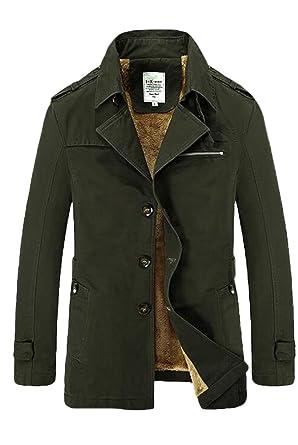 Vogstyle Herren Jungen Langarm Cabanjacke Reverskragen Trenchcoat Mantel  Kurzmantel Einreihig Jack Anzug  Amazon.de  Bekleidung fb461f95d2