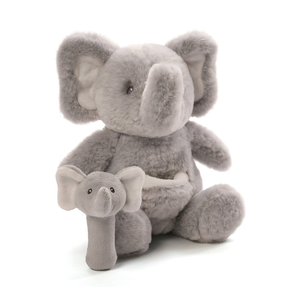 Gund Baby Oh So Soft Elephant & Rattle Combo by GUND (Image #1)
