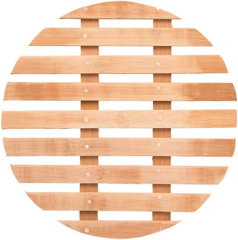 UPKOCH Bamboo Steamer Rack Trivet Mat Heat Resistant Hot Pot Pan Pad Holder For Home Kitchen Countertop Table 28cm