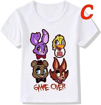 Amazon.com: FNAF Camisa blanca de algodón Merch Camisas para ...