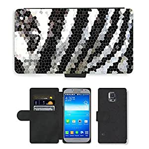 PU LEATHER case coque housse smartphone Flip bag Cover protection // M00151845 Estructura del modelo de mosaico de // Samsung Galaxy S5 S V SV i9600 (Not Fits S5 ACTIVE)