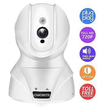 Wlan IP Kamera,KAMTRON HD WiFi Überwachungskamera,mit 350°//100°Schwenkbar