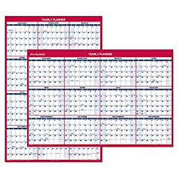 AT-A-GLANCE 2016 2-Sided Erasable Yearly Wall Calendar, 48 x 32 Inches (PM326_16)