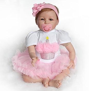 Juguetes del bebé,Hecho a Mano Realista bebé realistas bebé muñeca Renacida muñeca recién Nacidos Juguetes de Silicona LMMVP (Unos 55 centímetros, C)