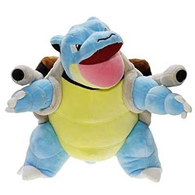Pcqre Turtle Doll Plush Soft Toy Open Water Arrow Turtle Animal Stuffed Toy Blastoise Doll Figure Baby Toddle Cotton Plush Animal Toy Sofa Car Hug Pillow Christmas Birthday Gift: Home & Kitchen