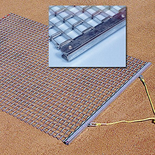 TACVPI Baseball Infield Drag Mat with 6ft x 6ft Galvanized Steel Mesh