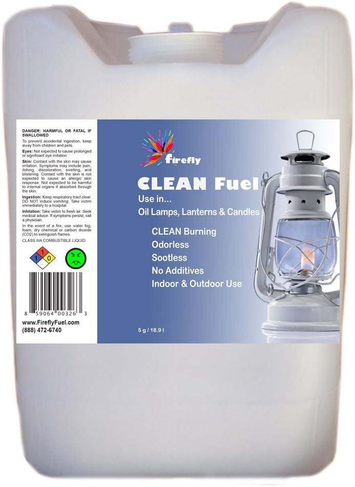 Firefly Clean Fuel Bulk Lamp Oil – 5 Gallons – Smokeless/Virtually Odorless – Longer Burning