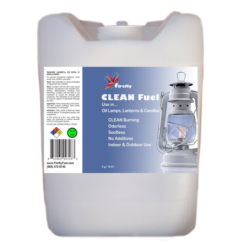 Firefly Clean Fuel Bulk Lamp Oil - 5 Gallons - Smokeless/Virtually Odorless - Longer Burning by Firefly