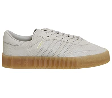new style 97da3 2d2d2 Amazon.com   adidas Originals Women s Sambarose Leather Sneakers Beige in  Size US 6.5   Fashion Sneakers