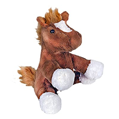 """Beary Fun Friends Recordable 8"""" Plush Chestnut The Horse w/20+ Seconds of Digital Recording for Special Messages, Rymes or Songs: Toys & Games"""