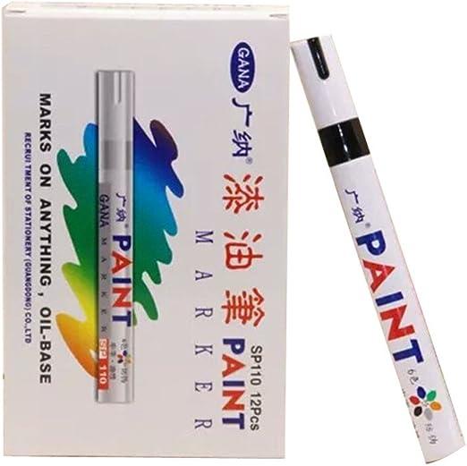 Universal Black Paint Marker Oil Based Waterproof Pen Wood Glass Plastic Tyre