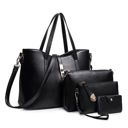 fd5c355ba33 Amazon.com  Clearance!4PCS Women Zipper Shoulder Bags,Todaies Fashion Women  Crossbody Bag Shoulder Bag Messenger Bag Embossing Crad Bag 2018 (4Pcs, ...