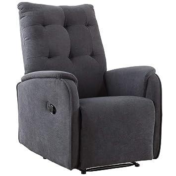 SUENOSZZZ-ESPECIALISTAS DEL DESCANSO Sueños ZZZ | Sillon Relax reclinable Swing tapizado Tela Antimanchas Gris | Sillon reclinable butaca Relax | ...