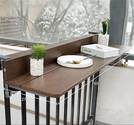 Balcon suspendu Table pliable - 1.5cm Imitation Bois - Table ...