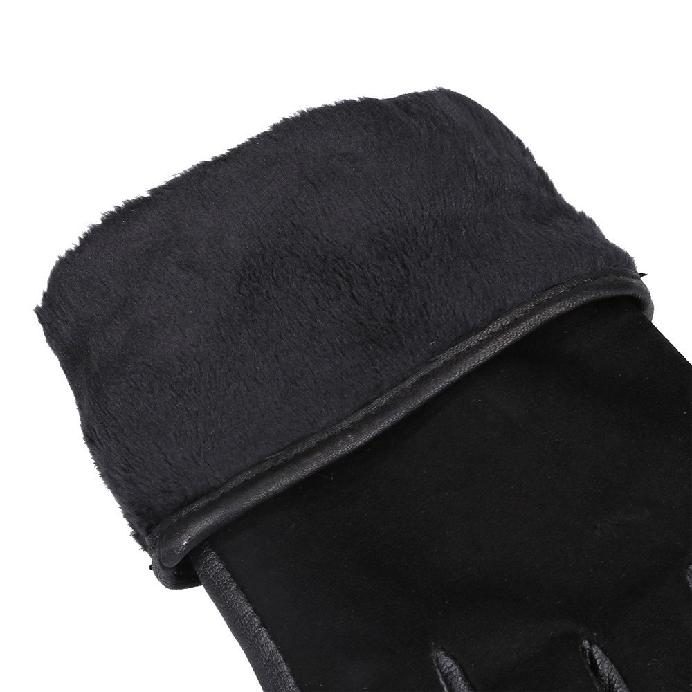Womens Genuine Nappa Leather Winter Warm Lined Gloves