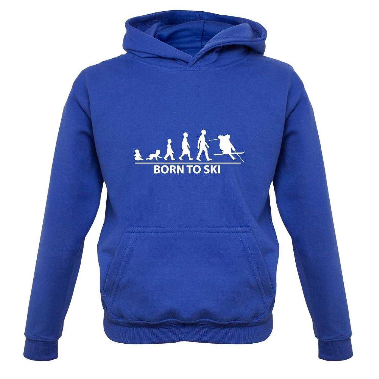 Born To Ski - Kinder Hoodie/Kapuzenpullover - 9 Farben - 1-13 Jahre