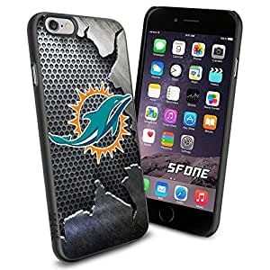 """Miami Dolphins NFL Team Metal Logo iPhone 6 4.7"""" Case Cover Protector for iPhone 6 TPU Rubber Case"""