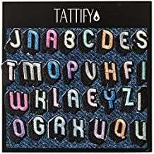 Tattify Pastel Alphabet Embroidered Sticker Patch Collection - Stick or Iron on Fabric, Clothing, Denim Jackets, Jeans, Phones and Laptops