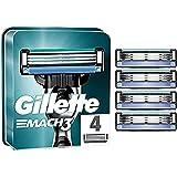 Gillette Mach3 Razor Blades for Men, Pack of 4 Refill Blades